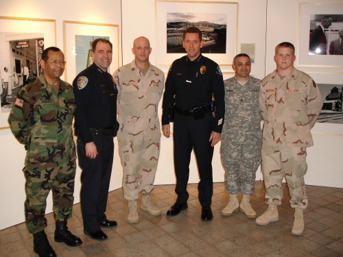 Irvine Police Chiefs with 163rd Ordnance Company, City of Irvine YRA Award Event 2006