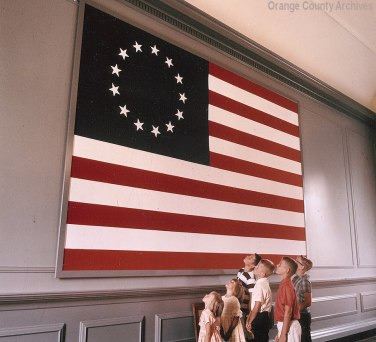 American Flag - Independence Hall, ca 1966