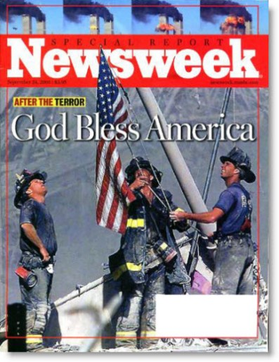 2001-newsweek-magazine-cover-god-bless-america-firefighters-9-11-wtc-us-flag
