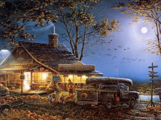 terry_redlin_artwork_wallpaper_autumn_traditions1024768