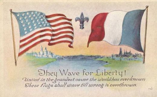 WWI-American-French-Flags