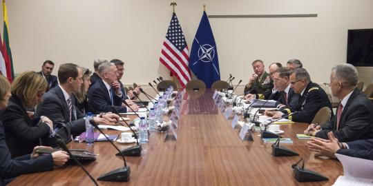 SD arrives at NATO