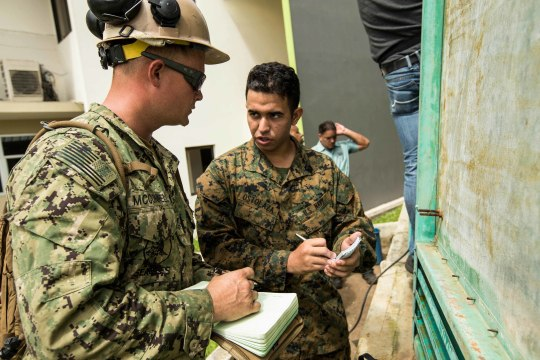U.S. Marines, Sailors assess hospitals, provide support in Puerto Rico