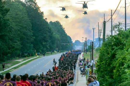 82nd Airborne Division start All American Week with run