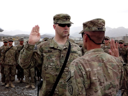 Cavalry amputeer re-enlists in Afghanistan