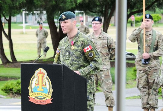 Canadian General bids farewell to