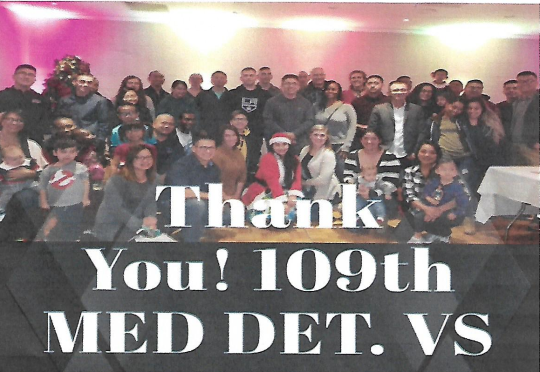 109th Medical Detachment Veterinary Services,thank you 3.